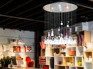 Design indirect light glass chandelier GROWING VASES - Lasvit