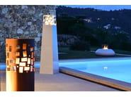 Corten™ fireplace GUSTAV COMMERCE - Planika