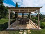 Solid wood gazebo Gazebo 1 - Garden House Lazzerini
