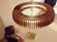 LED wooden pendant lamp HANKO - Cameron Design House