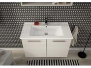 Wall-mounted vanity unit with doors HARLEM H13 - LEGNOBAGNO