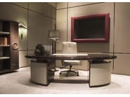 Lacquered oak writing desk HAUSSMANN | Office desk - HUGUES CHEVALIER