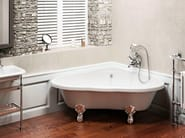 Triangular bathtub on legs HEART - Polo
