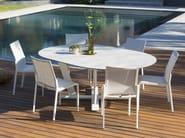 Extending round HPL table HEGOA   Extending table - Les jardins