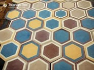 Indoor/outdoor cement wall/floor tiles HEXAGON 103 - TsourlakisTiles
