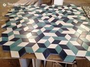 Indoor/outdoor cement wall/floor tiles HEXAGON 107 - TsourlakisTiles