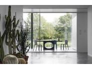 Rectangular living room table HOLE - Kristalia