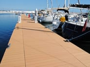 Engineered wood outdoor floor tiles / decking Holow Profile Stave 4000 Wood - NOVOWOOD