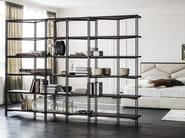 Libreria a giorno modulare in acciaio HUDSON - Cattelan Italia