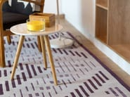 Handmade rectangular wool rug with geometric shapes HYPER - Dare to Rug