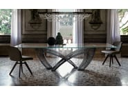 Rectangular crystal table HYSTRIX - Cattelan Italia