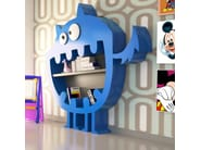 Wall-mounted lacquered kids bookcase HARRY - ITALY DREAM DESIGN - Kallisté