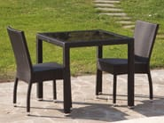 Resin wicker garden table IBIZA | Garden table - Talenti