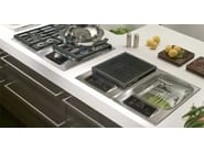 Built-in stainless steel hob ICBIS15/S DOMINO | Steam hob - Sub-Zero Group