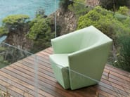 Upholstered armchair with armrests ICE CUBE | Armchair - Jori