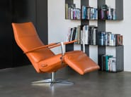 Reclining chair with 5-spoke base IDAHO - Jori