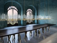 LED handmade crystal chandelier IL PEZZO 3 | Lampadario Infinito - Il Pezzo Mancante