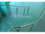 Glass and Stainless Steel Spiral staircase IMPERIALE - FARAONE