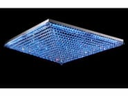 LED RGB metal ceiling light with crystals IMPERO VE 809 | RGB ceiling light - Masiero