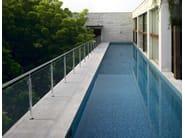 Glass and steel balustrade INOX21 - Fontanot Spa