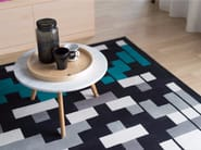 Handmade rectangular wool rug with geometric shapes INTENSE - Dare to Rug