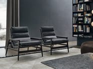 Upholstered fabric armchair with armrests IPANEMA | Fabric armchair - Poliform