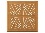 Square teak garden table IRIS   Square table - ASTELLO