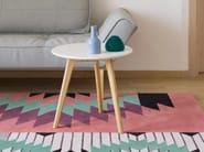 Handmade rectangular wool rug with geometric shapes IRONIC - Dare to Rug