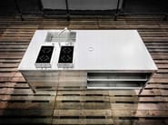 Stainless steel kitchen unit with drawers ISOLA CUCINA 250 - ALPES-INOX