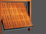 Up-and-over wooden garage door ISOLMANT - DE NARDI