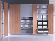 Modular office storage unit with hinged doors J_SYSTEM | Office storage unit with hinged doors - BALMA