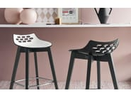 ABS stool with footrest JAM W | Stool with footrest - Calligaris