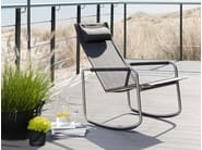 Rocking high-back chair with armrests JARDIN | Rocking chair - solpuri