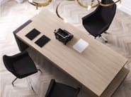 Rectangular office desk with drawers with shelves JERA   Office desk with drawers - Las Mobili