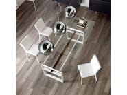 Square crystal table JEREZ - Cattelan Italia