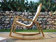 Rocking textilene chair with armrests JINGLE | Rocking chair - Atmosphera