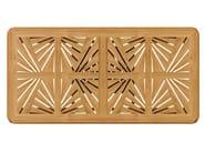 Extending rectangular teak garden table JONQUILLE | Rectangular table - ASTELLO