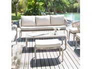 Poggiapiedi da giardino rettangolare JOURNEY 23086 - SKYLINE design