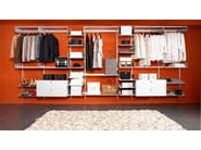 Sectional aluminium walk-in wardrobe K1 | Sectional walk-in wardrobe - KRIPTONITE