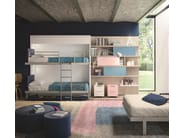 Storage wall with fold-away bed KALI DUO BOARD - CLEI