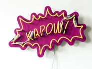 Wall-mounted neon light installation KAPOW - Sygns