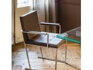 Sled base tufted easy chair KATE - Cattelan Italia