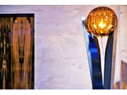 Crystal and stainless steel floor lamp KATUNA | Crystal and stainless steel floor lamp - Placidia