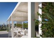 Freestanding aluminium pergola with adjustable louvers KEDRY - KE Outdoor Design