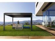 Pergolato autoportante in alluminio a lamelle orientabili KEDRY PLUS - KE Outdoor Design