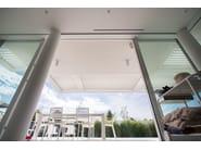 Aluminium pergola with adjustable louvers KEDRY T - KE Outdoor Design