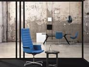 Sedia ufficio operativa girevole in tessuto a 4 razze KEY | Sedia ufficio operativa girevole - Emmegi