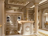 Imperial kitchen with backlit marble - Kitchen King ivory version - Kitchen Collection - Modenese Gastone