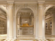 Bespoke cuisine with backlit marble - Kitchen King ivory version - Kitchen Collection - Modenese Gastone