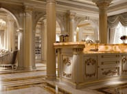 Classic kitchenette with backlit marble - Kitchen King ivory version - Kitchen Collection - Modenese Gastone